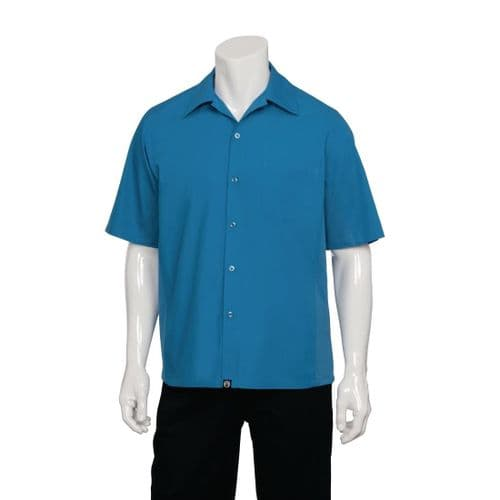 Chef Works Cool Vent Chef Shirt Blue XS